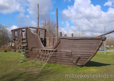 Pirate ship park in Fishermead