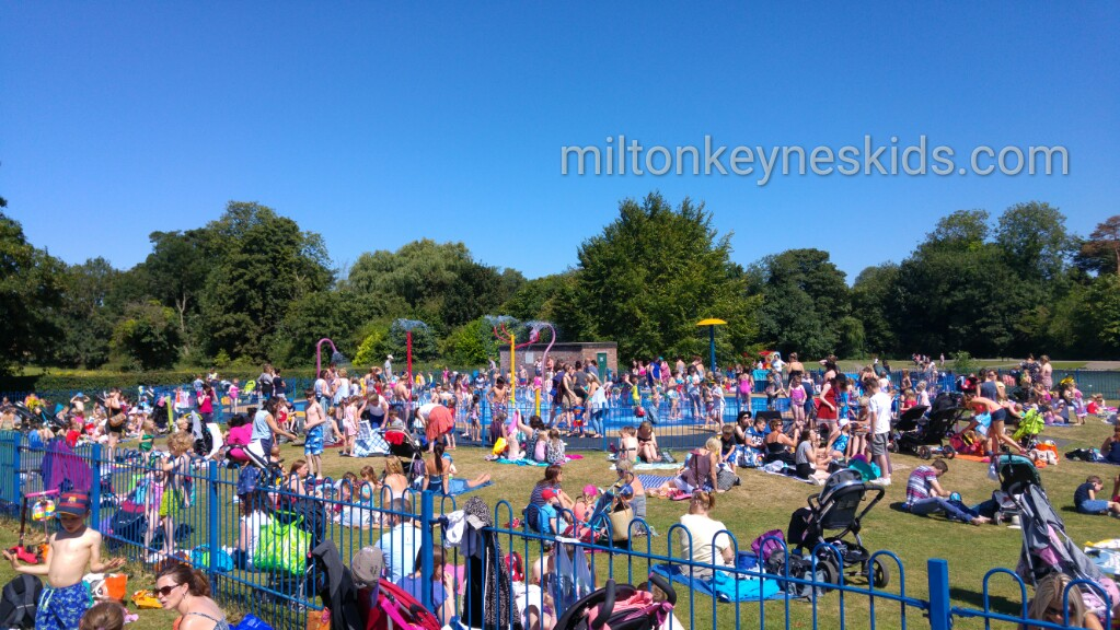 Fun at the splash park, Verulamium Park St Albans
