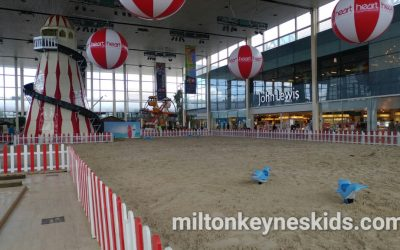 Indoor beach at Centre MK shopping centre in Milton Keynes 2017