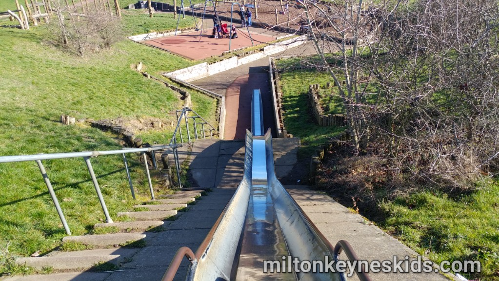 Huge slide at Downs Barn Park, Milton Keynes