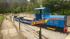 Train at Caldecotte Miniature Railway