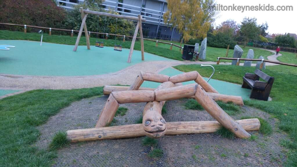 Lots of fun play equipment in this MK park