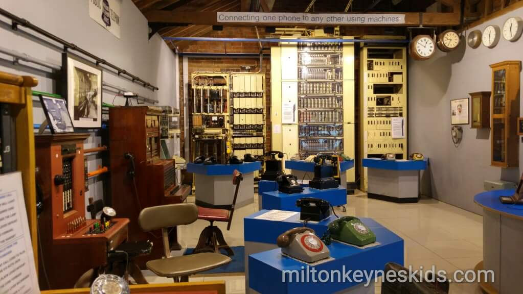 telephone exchange at Milton Keynes Museum