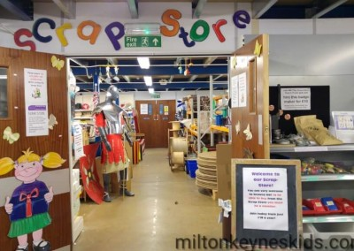 Scrapstore at the Milton Keynes Play Association
