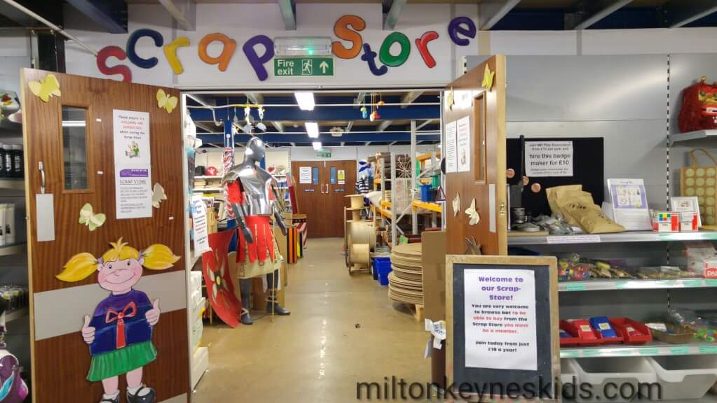 A tour of the Milton Keynes Play Association scrapstore