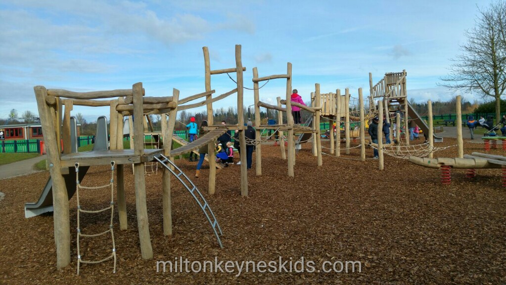 The new (ish) play equipment at Willen Lake