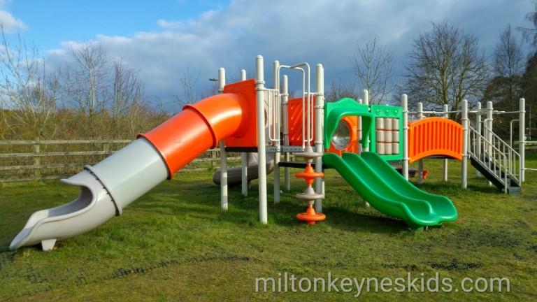 climbing frame at Little Brickhill Park