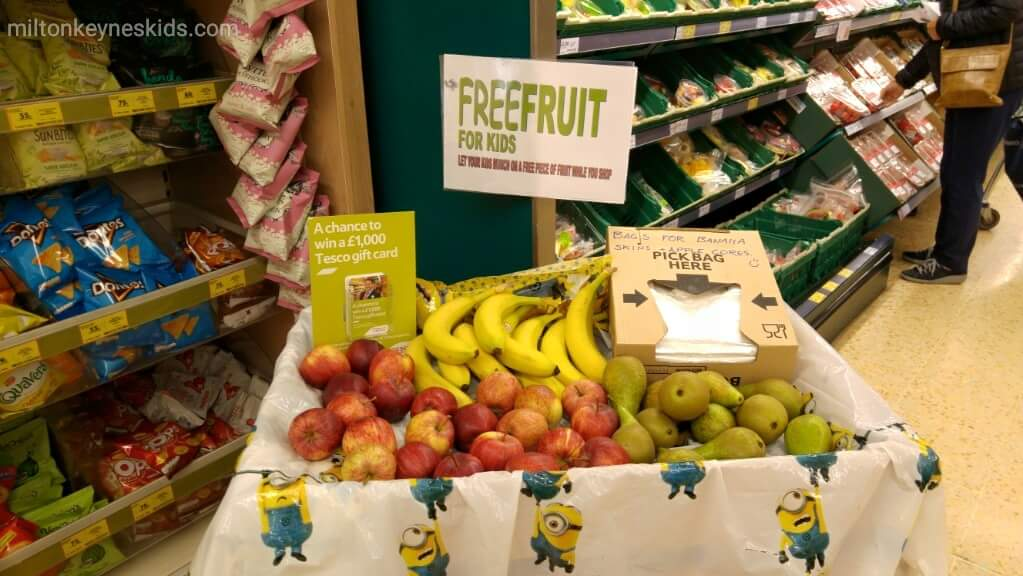 Free fruit for kids in Tesco stores