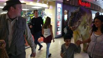 Walking 'real' dinosaurs at Xscape Milton Keynes