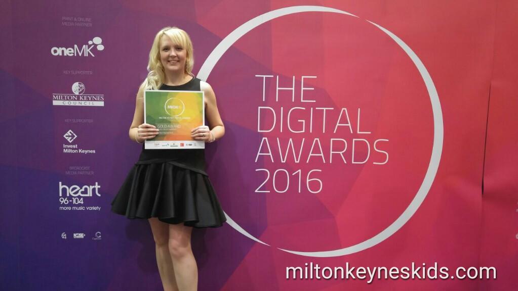 Milton Keynes Kids wins gold for Blog: Entertainment at Milton Keynes Digital Awards