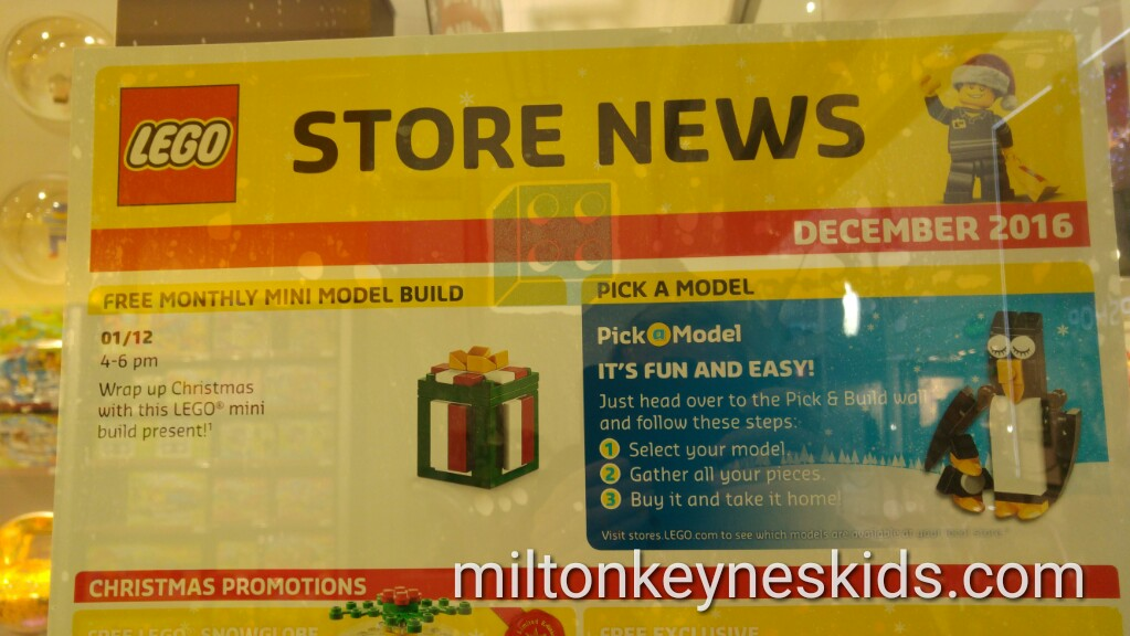 Free Christmas Lego mini build at Intu shopping centre Milton Keynes