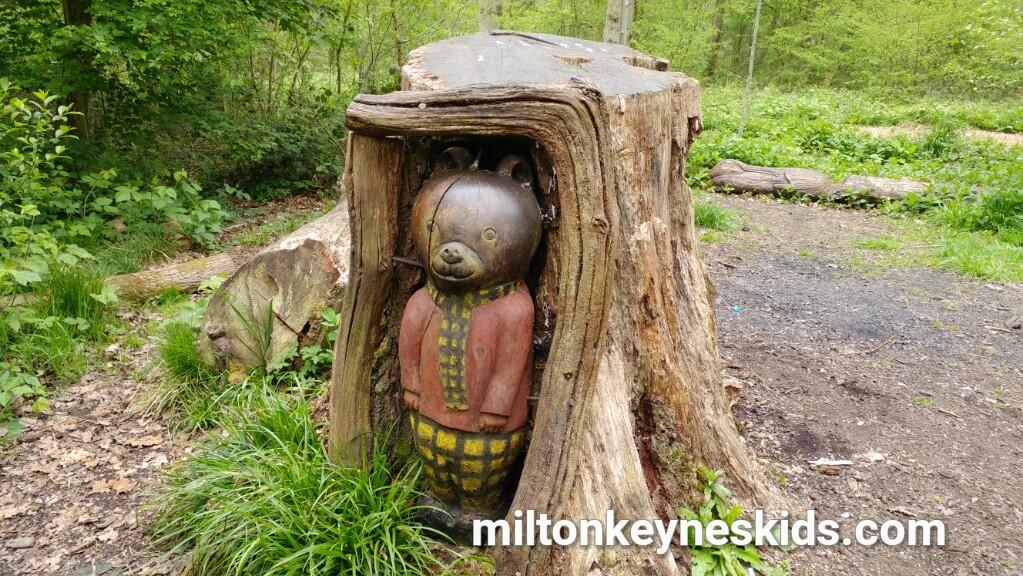 Linford Wood sculpture art trail in Milton Keynes