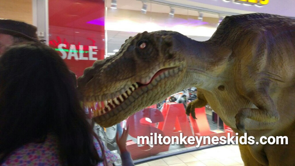 Dates for walking animatronic dinosaur Rex at Xscape MK in Milton Keynes