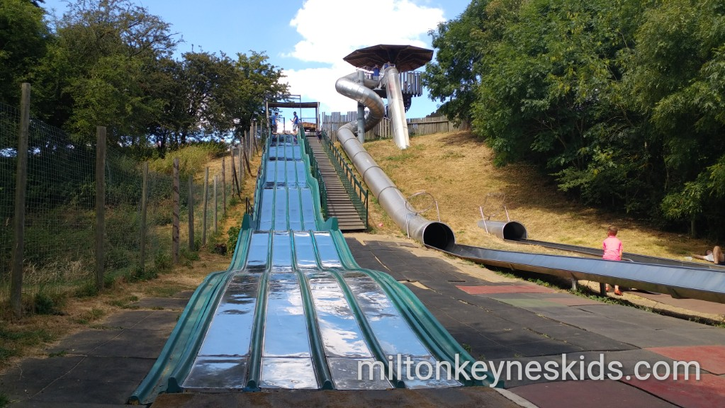 Slides at Knebworth House - park and gardens