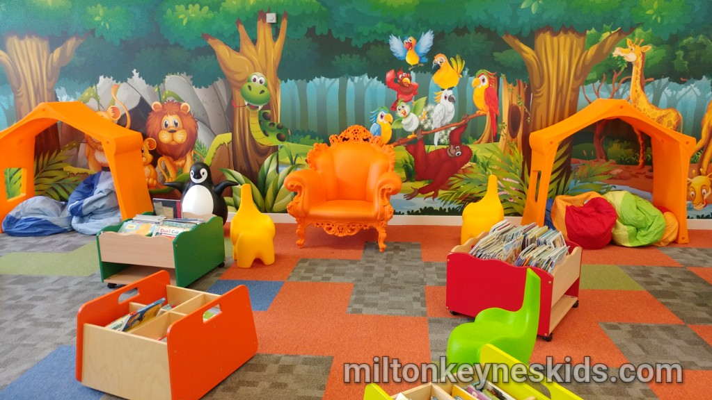 Fun children's area at Bletchley Library, Milton Keynes