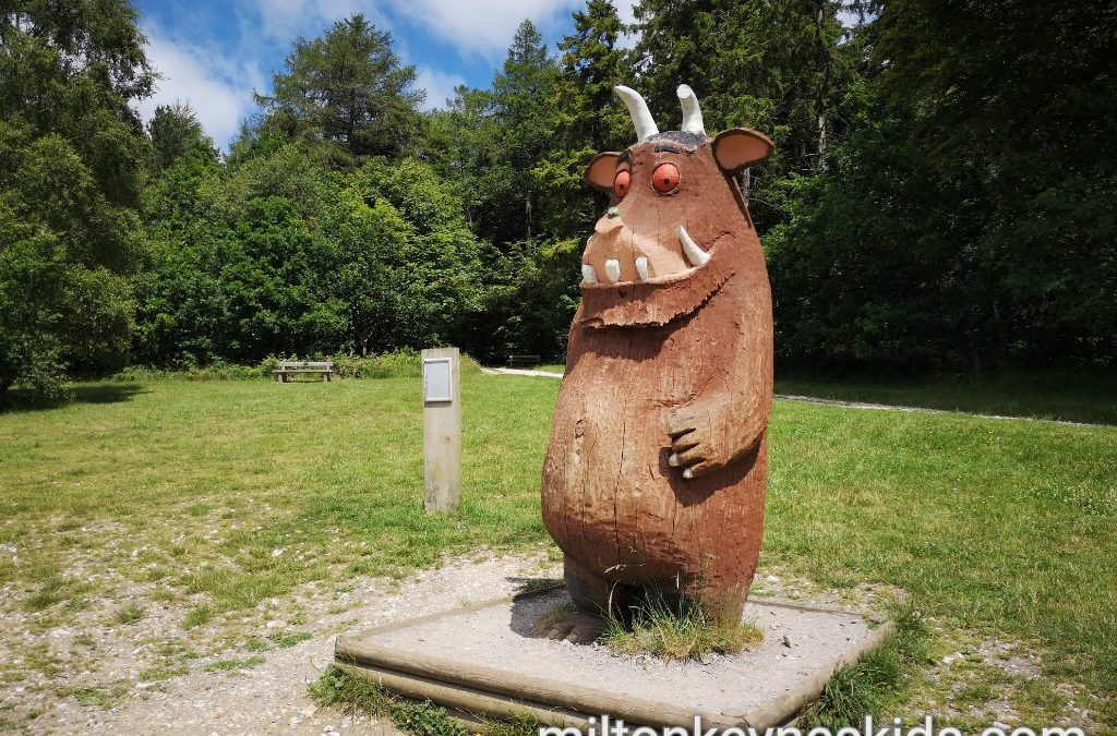 The Gruffalo statue at Wendover Woods