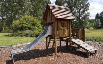 Climbing frame at Woolstone local park, Milton Keynes