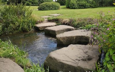 Stepping stones in Loughton, Milton Keynes