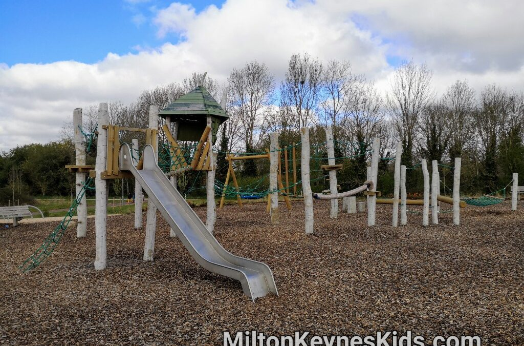 Large climbing frame at Fairfields Park